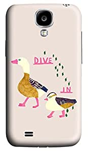 Brian114 Samsung Galaxy S4 Case, S4 Case - Customized 3D Designs Snap-on Case for Samsung Galaxy S4 I9500 Dive In From Ducks Best Protective Back Case for Samsung Galaxy S4 I9500
