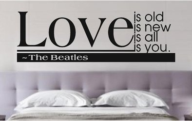 Amazoncom Evelyndavid Love Is The Beatles Vinyl Wall Decals