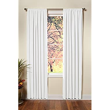 Cotton Craft - Set of 2-100% Cotton Duck Reverse Tab Top Curtain Panel Set - 50x108 - White - Classic Elegance for a Clean Crisp Look - Each Panel is 50 in Wide