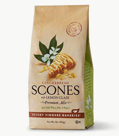 Sticky Fingers Gingerbread with Lemon Glaze Premium Scones Mix 1 lb.