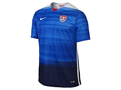 Nike USA Men's Away Jersey 2015, Blue/White/Red