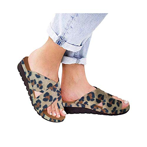 Dressin Women Sandal Comfy Platform Sandal Shoes 2044 New Summer Slides Slippers Sandal Toe Platform Flip Flop Beach Travel Shoes Slipper Khaki