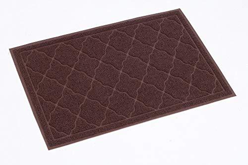 Superday Pet mat Cat Litter Mat Cat Litter Trapper – 35″ x 23″ Soft Durable Waterproof Phthalate Free Kitty Indoor mat, Easy to Clean/Brown