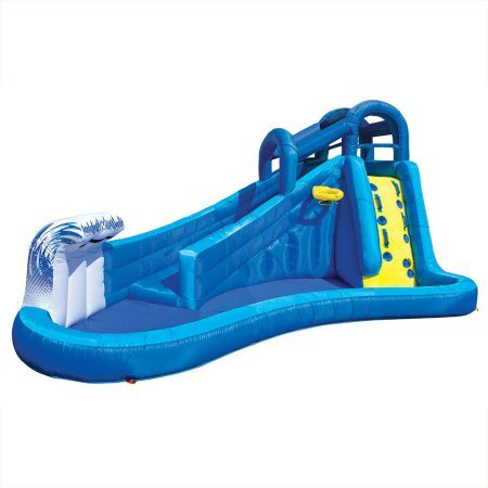 Best Outdoor Inflatable Waterslide for Kids | Banzai Surf 'N Splash Water Park by Banzai. (Image #1)