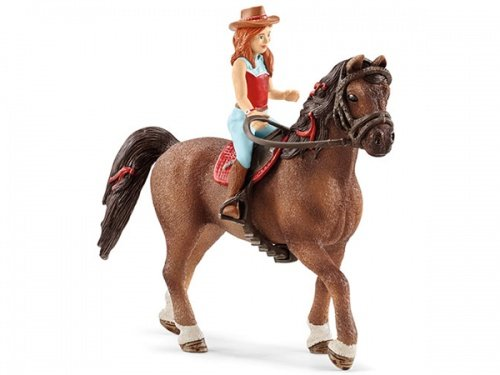 Hannah & Cayenne Figurine Toy, Multicolor (Horse And Rider)