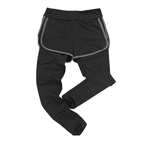 DDTC-us Women's Fake two Piece,High Waist Layered Shorts Leggings Fitness Sports Yoga Skinny Pants