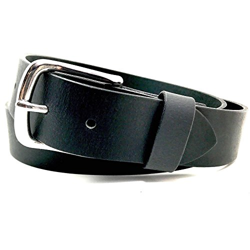 American Eagle Leather Belt (ALB Simple Black Leather Belt - Mens Best Plain Straps USA Made Removable Buckle)