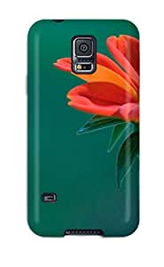 Hot Premium Protection Flower Case Cover For Galaxy S5- Retail Packaging