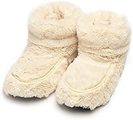 Fits up to a Size 7 Ladies Aroma Home Lavender Scented Microwavable Slippers