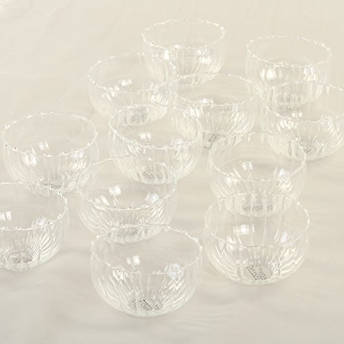 Koyal Wholesale Floating Tealight Candle Holders, 12-Pack, Petite Glass Candle Holders for Tealight Candles, Electric Candles, Battery Tealight Candles, Tealight Votives - Garland Holder Candle Metal