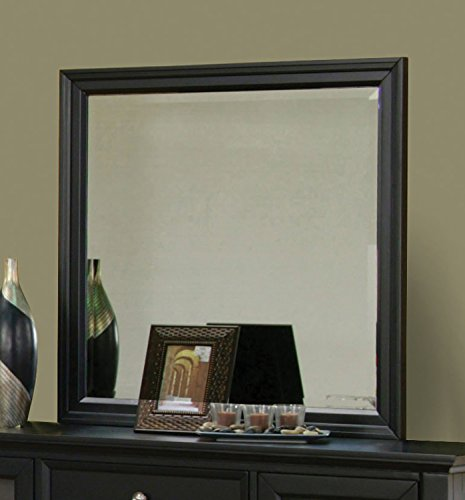 Coaster Home Furnishings 201324 Country Mirror, Black by Coaster Home Furnishings