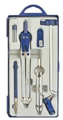 Geometry Compass Set by EBUZZ, Set for Solid and Plane Geometry Precision Tool for Drawing, Drafting, Math and Geometry with Beam Extension Bar (Jet Bow Compass Set)