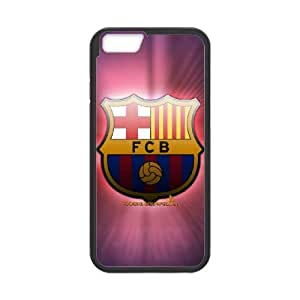Popular And Durable Designed TPU Case with Barcelona Football iPhone 6 Plus 5.5 Inch Cell Phone Case Black