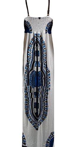 Confortables Maxi De La Mode Sans Manches De Style Africain Féminin Longue Robe De Pattern4