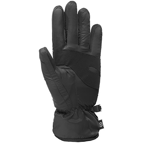 Isotoner Women's smarTouch Packable Gloves with NeverWet, Black, Medium