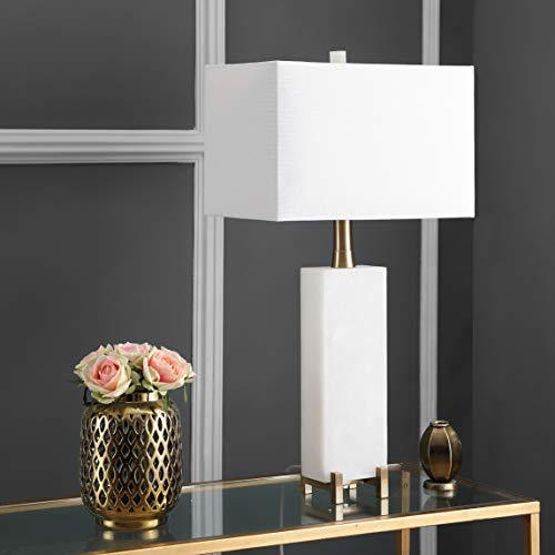 Alabaster Table Lamp - Safavieh TBL4065A Lighting Collection Sloane Alabaster White and Brass Gold Table Lamp,
