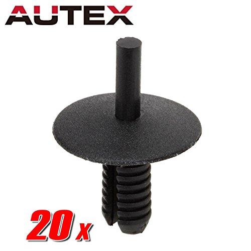 - AUTEX 20pcs Fender Liner Fastener Rivet Nylon Bumper Car Retainer Clips Replacement For Auto Body Retainer Clips Push Clips Retainer Nuts