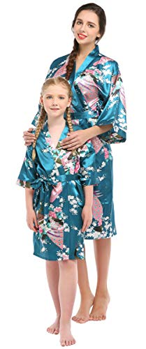 Mommy and Me Floral Pajamas Satin Nightwear Parent