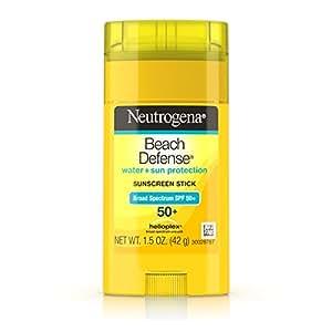 Neutrogena Beach Defense Sunscreen Stick Broad Spectrum SPF 50+, 1.5 Oz
