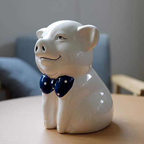 IKnow Ceramic Piggy Bank Home Decor Ornament Gift for Kids (White) by IKnow (Image #1)