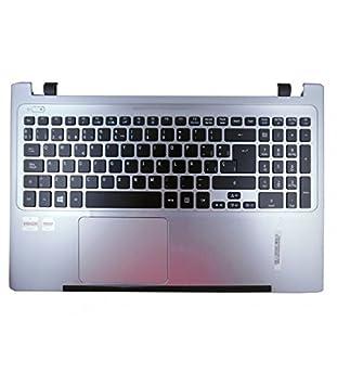 Portatilmovil - Teclado Completo con Carcasa Frontal para PORTÁTIL Acer Aspire V5-571 V5-551 Plateada: Amazon.es: Electrónica