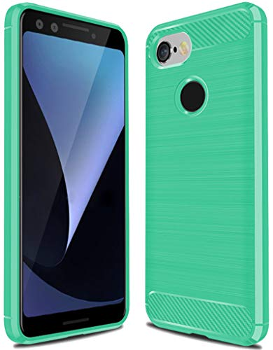 Google Pixel 3 Case,Pixel 3 Case, Sucnakp TPU Shock Absorption Technology Raised Bezels Protective Case Cover for Google Pixel 3 Case (Mint Green)