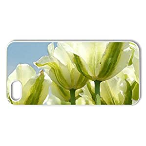 White and green tulips - Case Cover for iPhone 5 and 5S (Flowers Series, Watercolor style, White)