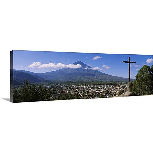 Canvas on Demand Premium Thick-Wrap Canvas Wall Art Print Entitled High Angle View a Town, Antigua, Guatemala 60