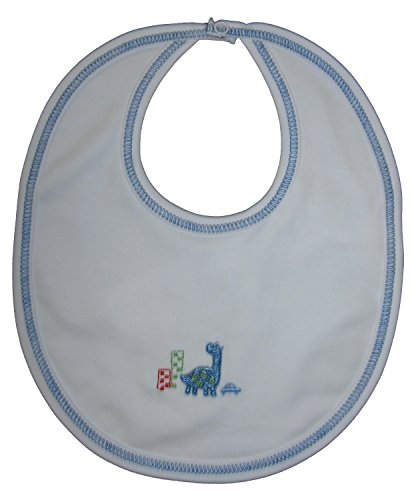 Kissy Kissy Baby-Boys Infant Downtown Dinosaurs Reversible Bib-Multicolored-One Size ()