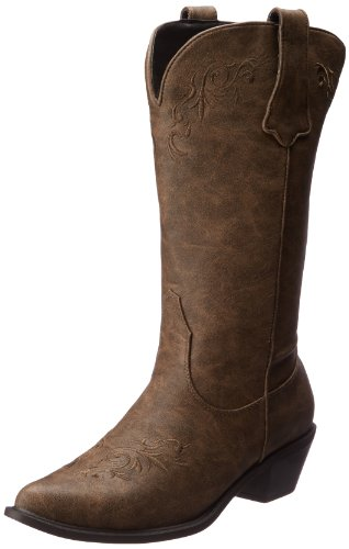 (ROPER Women's Western Embroidered Fashion Boot, Tan, 5 B - Medium)