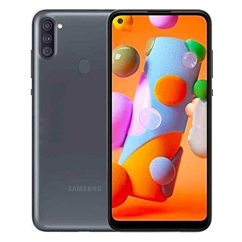 Samsung Galaxy A11 (32GB, 2GB) 6.4″ Dual SIM GSM Unlocked, Global 4G LTE International Model (T-Mobile,AT&T,Metro,Cricket) A115M/DS (64GB SD Bundle, Black)
