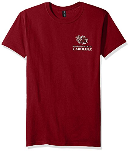 NCAA South Carolina Fighting Gamecocks Team Mosaic Short Sleeve Shirt, Large, Garnet (Bowl Alabama Iron T Shirt)