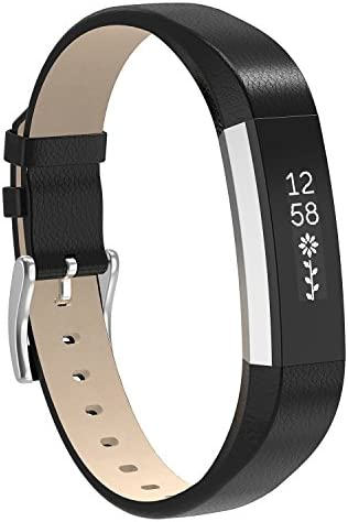 Henoda Replacemnt Leather Bands CompatibleFitbit Alta/Fitbit Alta HR Classic Genuine Leather Wristband Small Large No Tracker