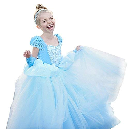 2018 Adult Princess Cinderella Blue Fancy Dress Cosplay Costume Party