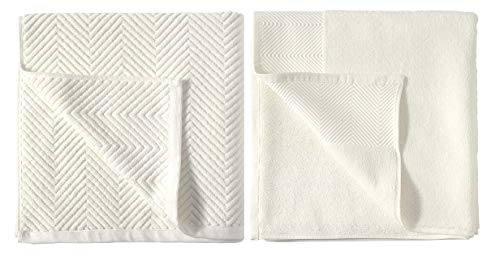 6 Piece Bath Towel, 100% Cotton 600 GSM Chevron Towel Set, 2 Bath Towels, 2 Hand Towels, 2 Wash Cloths Extra Soft Fluffy… - LUXURY AND ELEGANCE - This textured towel set made with ultra-soft 100 percent Cotton is super absorbent and soft to the touch. The beautiful Chevron pattern gives your bathroom an appealing look. DURABLE & MOISTURE WICKING The towels are generously sized, have exceptional absorbency and are quick drying. The fabric glides smoothly over your body wicking away moisture. 6 PIECE SET includes 2 bath towels (28 inches wide x 54 inches long), 2 hand towels (16 inches wide x 26 inches long), and 2 washcloths(13 inches wide x 13 inches long) for all your versatile needs - bathroom-linens, bathroom, bath-towels - 41HGCYpCEeL -