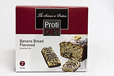 Ideal Protein Compatible ProtiDiet High Protein Banana Bread Breakfast Bars