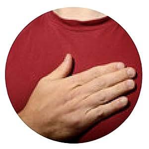 alfombrilla de ratón mano en el corazón - ronda - 20cm