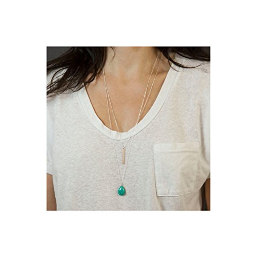 suyi-womens-double-layers-turquoise-long-pendant-necklace-green-silver