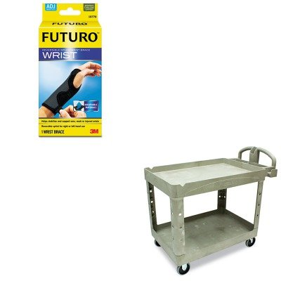 KITMMM10770ENRCP452088BG - Value Kit - Rubbermaid Heavy-Duty Utility Cart (RCP452088BG) and Futuro Adjustable Reversible Splint Wrist Brace (MMM10770EN) by Rubbermaid