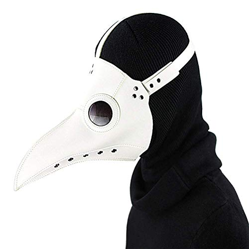 Kingwolfox Halloween Scary Beak Plague Doctor Bird Mask Beak Doctor Christmas Costume