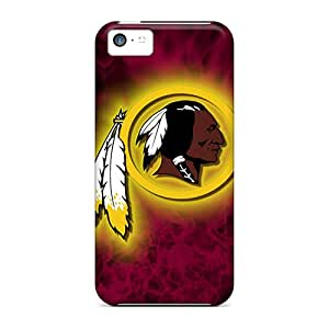 Shock-Absorbing Hard Cell-phone Cases For Iphone 5c With Provide Private Custom Vivid Washington Redskins Image RitaSokul
