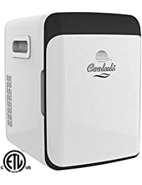 Cooluli Electric Mini Fridge Cooler and Warmer (15 Liter / 18 Can): AC/DC Portable Thermoelectric System (White)