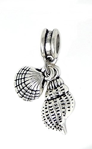 Shell Cross Charm (J&M Dangle Sea Shells Charm Bead for Charms Bracelets)