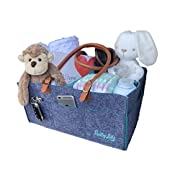 Premium Baby Diaper Caddy | Nursery Diaper Tote Bag | Large Portable Car Travel Organizer | Boy Girl Diaper Storage Bin for Changing Table | Baby Shower Gift Basket | Newborn Registry- by Billy Lids