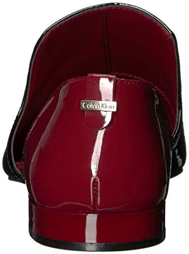 Calvin Black Flat Women's Loafer Edona Klein Patent Red Rock 4H4SnP