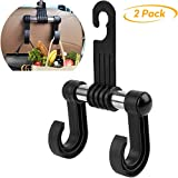 Headrest-Hooks-Car-Organizer-for-Accessories,Upgraded Car Purse Holder 2 PCS Stainless Steel Headrest Hooks Storage for Purses, Handbags, Cloth, Grocery Bags