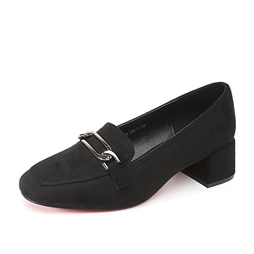 PUMPS Damenschuhe,Thick Heel Square Cap Foot Schuhe A
