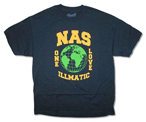 NAS Globe One Love Illmatic Navy Blue T Shirt (S)