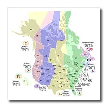 Different Time Zones In Usa Map on