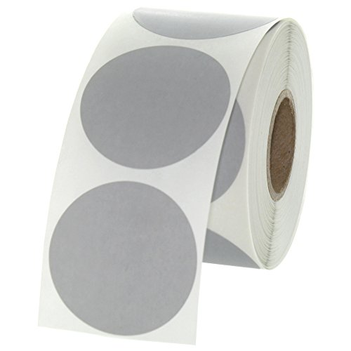 Gray Round Color Coding Inventory Labeling Dot Labels 1.5 Inch 500 Labels Per Roll